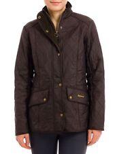 New Barbour Women's Cavalry Polarquilt Jacket - Dark Brown, Size US 2