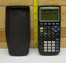TI-83 Plus Graphic Calculator For Work Or School W/ COVER WORKS GREAT