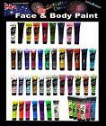Face Paint & Body Paint 15ml TUBES Colours Artistic Den Kids Face Paints