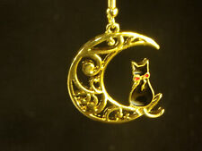 Cat Earrings dangle style 1inch in dia., stainless steel, Black Cat