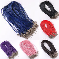 Wholesale Bulk Lot 10pcs Black PU Leather String 50CM Necklace Cords DIY Strap