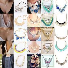 Elegnt Women Lady Collar Chain Statement Bib Pendant Necklace Charm Choker #4674