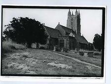 PHOTO noir & blanc ENGLAND architecture monument THE CHURCH église