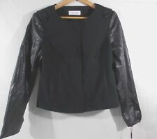 Calvin Klein Womens Lined Jacket Black Size 8 Nwt $139