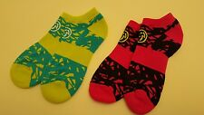 Zumba Dance Socks /Ankle Socks W/ Arch Supp. 2 pack New . FAST FREE SHIPPING.