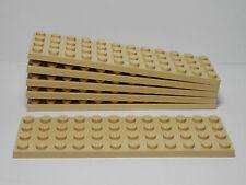 Lego Legos - Set of 6 New 4 x 12 Plates Tan Star Wars 2004 7-2 Boys & Girls
