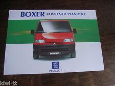 PEUGEOT BOXER kontener/plandeka Prospectus/Brochure/DEPLIANT, Pl