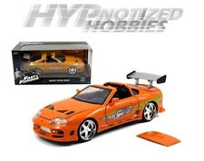 JADA 1:24 FAST AND FURIOUS BRIAN'S TOYOTA SUPRA ORANGE 97168