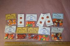 11-Lot Halloween Pumpkin Autumn Candy Corn Buttons Jesse James Dress It Up-Favor