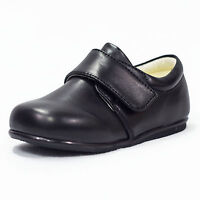 Baby Boys Black Matte Prince Shoes Formal Smart Lace Up Wedding Sizes 1 - 10