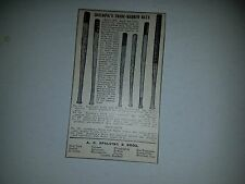 Spalding Baseball Bat  1903 Baseball Advertisement Ad