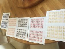 Ukraine Deutsche Hilfspost 5 half sheets 200 stamps modern re prints