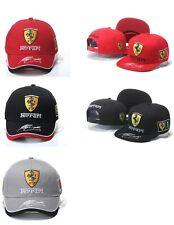 Ferrari Formula 1 Racing Team Cap with Driver Signature on the Rim. 3 Colors.