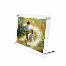 Aspire Clear Acrylic Picture Frame Photo Holder Free Standing Various Sizes