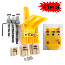 Handheld Woodworking Doweling Jig Drill Guide Wood Dowel Drilling Hole Drill Bit