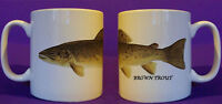 Brown Trout fly fishing game angling  mug personalised