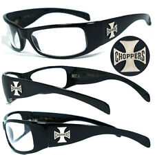 Mens Choppers Outdoors Bikers Sports Motocycle Riding Sunglasses - Clear C11B