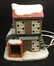 Victorian Village Bakery Lighted Hand Painted Porcelain