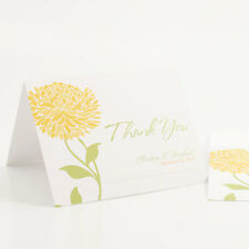 100 Zinnia Bloom Personalized Wedding Thank You Notes