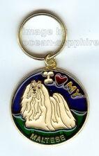MALTESE  Dog Key Ring Keychain Key Chain NEW Great gift Animal Pet