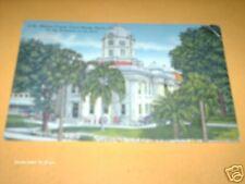 MARION COUNTY COURT HOUSE, OCALA FLORIDA 1951 LINEN  PC