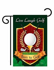 "Live, Laugh, Golf (13"" x 18"" Approx) Garden Size Flag Tg 59042"