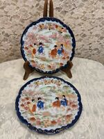 Vintage Flo Blue Geisha Bread And Butter Plates