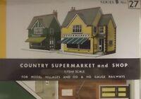 Superquick Card Kit OO/HO Gauge Series B No.27 - B27 Country Supermarket & Shop