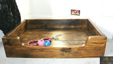 Rustic Dog Bed Handmade Reclaimed Solid Wood Chunky Country Farmhouse Pet Beds