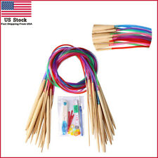 18 Pairs of Circular Knitting Needles Set with Colored Tube