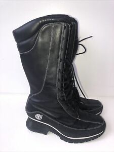 Used Women's Black Leather Timberland Boots Uk5.5 No Longer In Stock