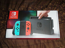 Brand New Nintendo Switch 32GB Gray Console (with Neon Red/Neon Blue Joy-Con)