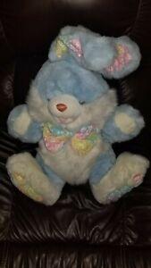 "Dan Dee HOPPY HOPSTER Large 24"" Easter Bunny Rabbit Plush Light Blue Stuffed"