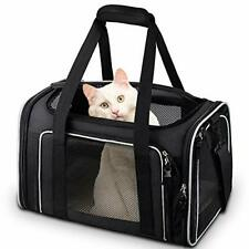 New Listing Cat Carrier, Pet Carrier Airline Approved Pet Carrier Bag Collapsible 15 Black