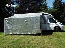 Aluminium Schattennetz Sonnenschutz 4x6m Hund Auto Pferde Anhänger Camping Womo