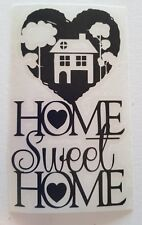 Home sweet home heart house Vinyl Decal Wine Bottle Sticker.
