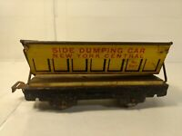 Vintage Marx New York Central #567 Side Dumping Train Car O Gauge Scale tr1173