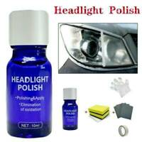 Car Auto 9H Hardness Headlight Lens Restorer Repair Liquid Polish Cleaner 10ML