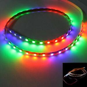 Car Flexible Car RGB Flashing 1210 45-SMD Fair Decor LED Strip Light Lamp 45cm