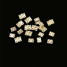 20pcs Mini Brass Plated Hinge Small Decorative Jewelry Cigar Box Hinges G_