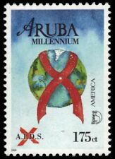 "ARUBA 194 - AIDS Prevention Campaign ""Ribbon and Globe"" (pb18899)"
