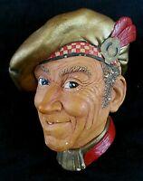 Vintage Bossons chalkware Scotsman head England, 1952
