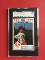 1986 Donn Jennings #23 Tom Glavine Southern League All-Star GEM MINT SGC 98 10