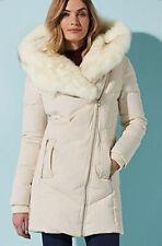 Kaleidoscope Cream Faux Fur Hooded Puffer Parka Coat Jacket New Was £160 Size 8