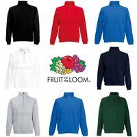 Fruit of the Loom Classic 80/20 Zip Neck Sweatshirt