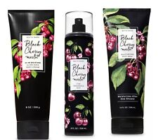 Bath & Body Works BLACK CHERRY MERLOT Fine Fragrance Mist/ Body Cream/ Body Wash