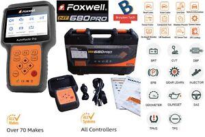 Foxwell NT680PRO All-System Diagnoses w/ DPF EPB SAS SRS Oil Light/Service Reset
