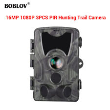 BOBLOV HC801A 16MP 3xPIR Waterproof 0.3S Night Vision Wildlife Game Trail Camera