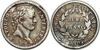 NAPOLEON I DEMI FRANC 1810 M TOULOUSE F.178 TTB!!!
