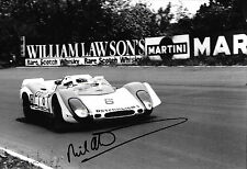 Richard Attwood  SIGNED 12x8, Porsche 908/2 Nurburgring 1000kms 1969